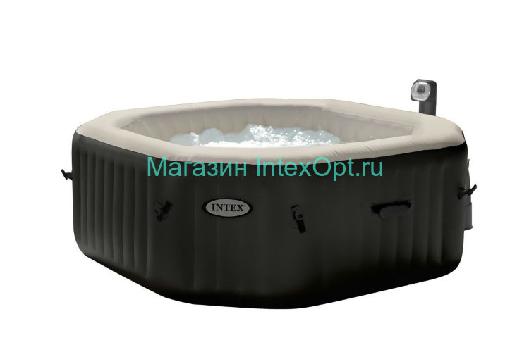 28456 Intex Надувной СПА джакузи PURESPATM JET AND BUBBLE DELUXE MASSAGE SET,12 Languages (220-240Volt)